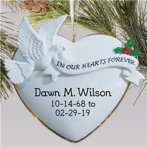 In Our Hearts Forever Memorial Ornament 820413