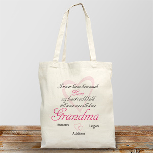 How Much Love Personalized Canvas Tote Bag | Personalized Tote Bags