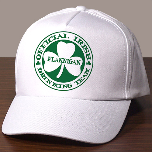 Irish Drinking Team Personalized Hat