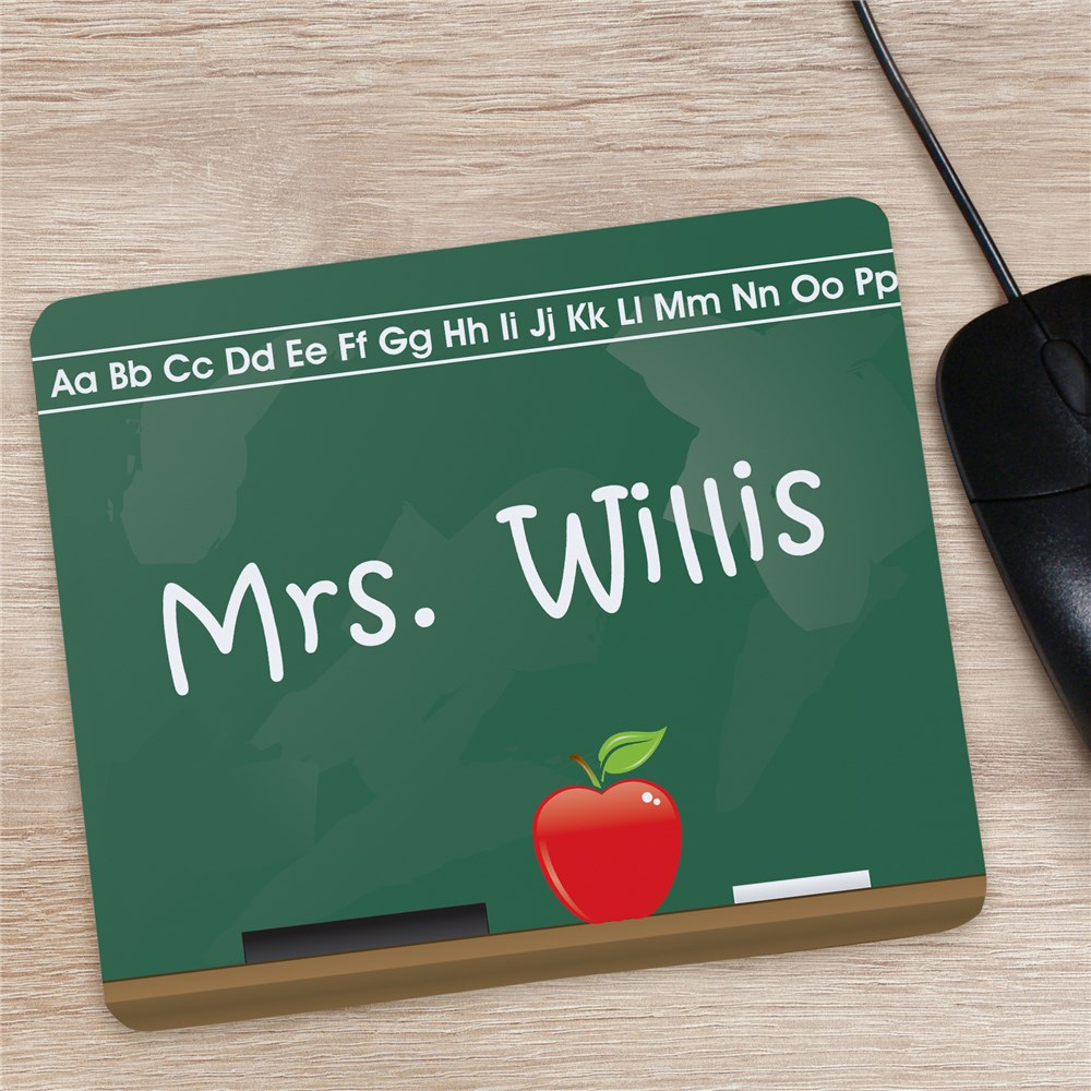 Personalized Teacher Mouse Pad -Chalkboard- | Personalized Teacher Gifts
