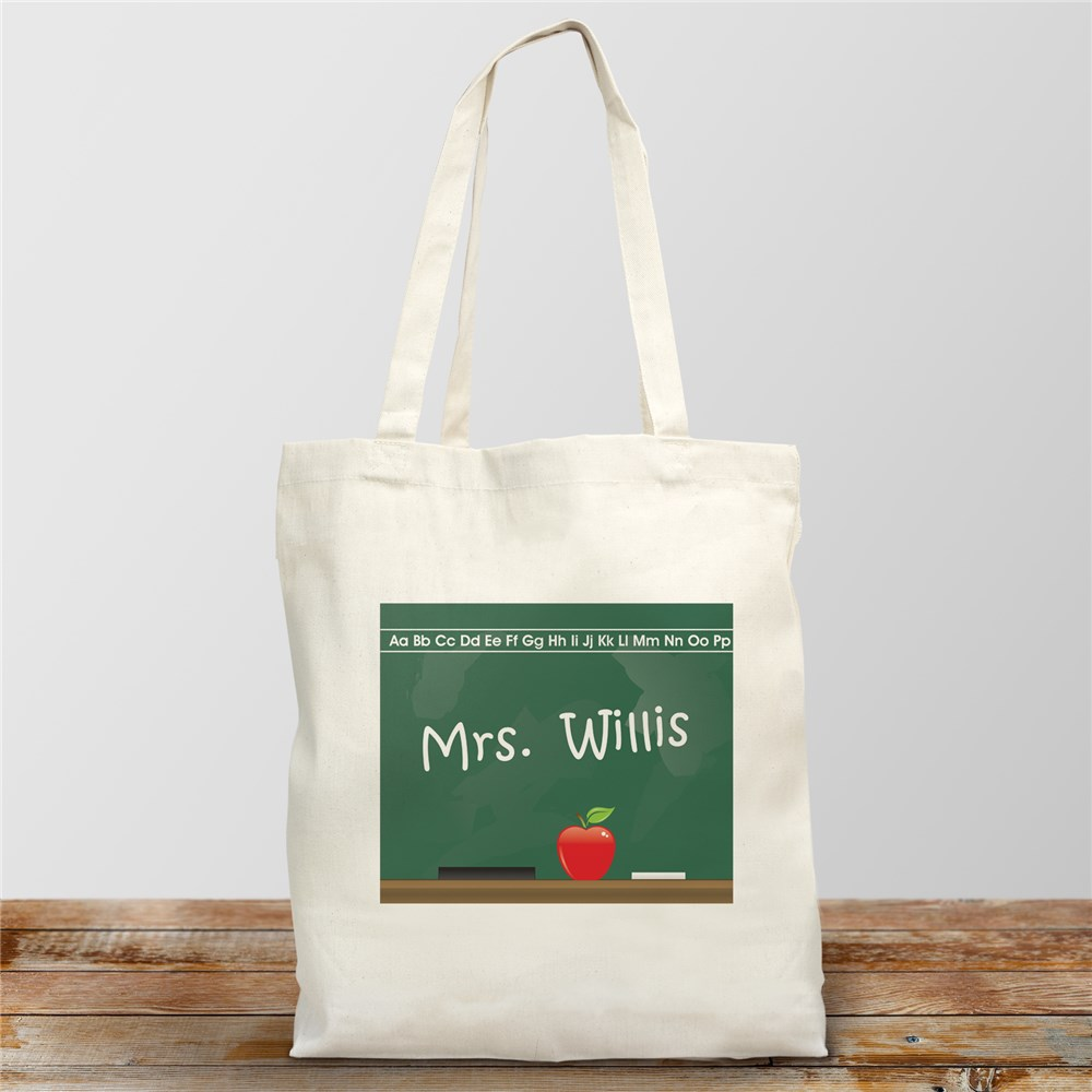 Personalized Gifts For Teachers | Chalkboard Teacher Tote