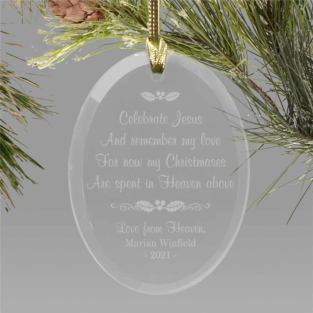 Christmas In Heaven Personalized Memorial Ornament | Memorial Christmas Ornaments