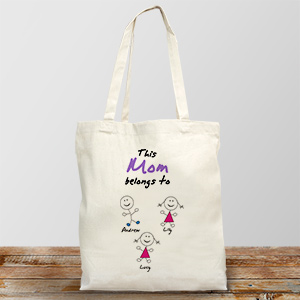 Belongs To Personalized Canvas Tote Bag | Grandma Gifts