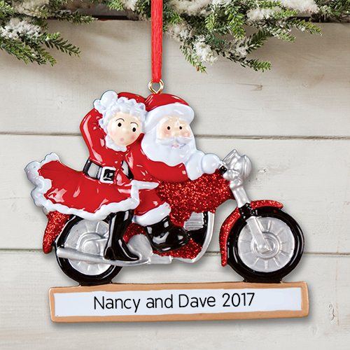 Mrs. Claus and Santa Personalized Christmas Ornament | Customized Christmas Ornaments