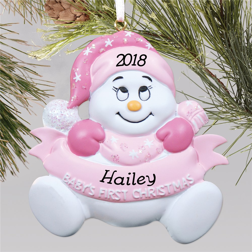 Snowman Girl | Baby's First Christmas Ornament | Baby's First Christmas Ornaments