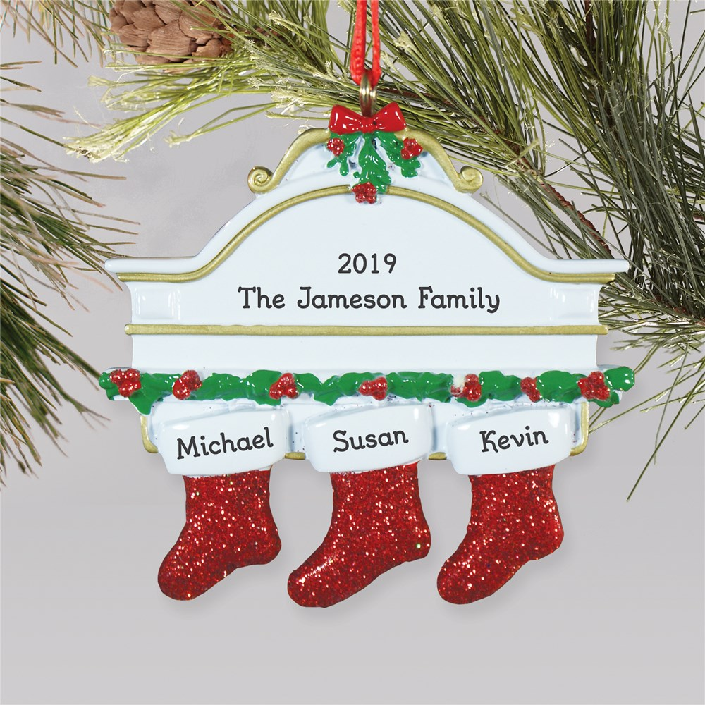 Personalized White Mantle Ornament | Personalized Family Christmas Ornaments