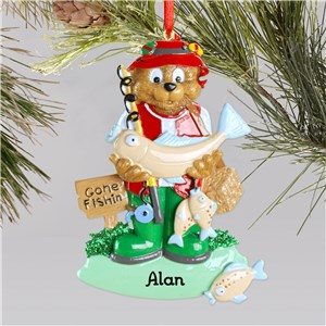Fisherman Ornament | Personalized Fishing Ornaments