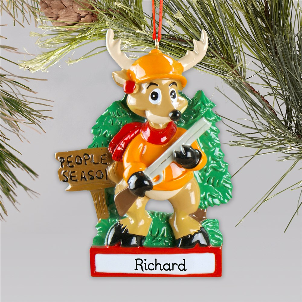 People Season Hunting Personalized Ornament | Personalized Hunting Ornament