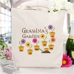 Garden Personalized Canvas Tote Bag | Grandma Gifts