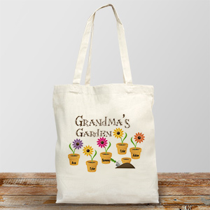 Garden Personalized Canvas Tote Bag