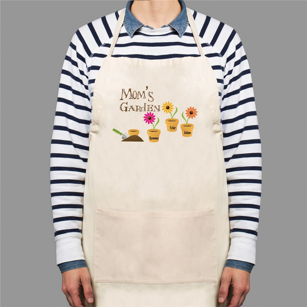 Personalized Grandma's Garden Kitchen Apron | Personalized Gifts for Grandma