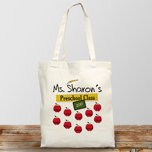 Teachers Class Personalized Canvas Tote Bag | Personalized Teacher Gifts