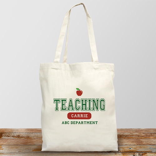 Teaching Personalized Canvas Tote Bag | Personalized Teacher Gifts