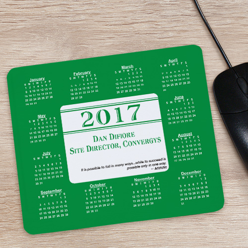 Personalized Executive Quotation Calendar Mouse Pad 828119