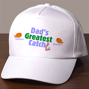 Greatest Catch Personalized Fishing Hat | Father's Day Gift