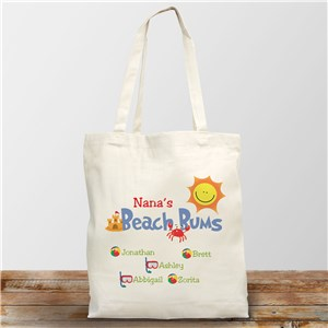 Beach Bums Personalized Canvas Tote Bag