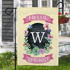 Monogram Spring Garden Flag |Personalized Housewarming Gifts