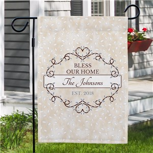 Bless Our Home Personalized Garden Flag | New Home Gifts
