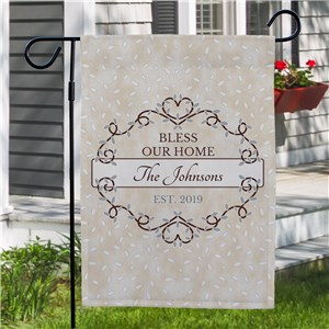 Personalized Bless Our Home Garden Flag |Personalized Garden Flags