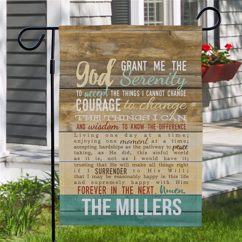 Personalized Serenity Prayer Garden Flag |Personalized Housewarming Gifts