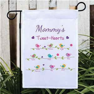 Personalized Tweet-Hearts Garden Flag | Personalized Gifts for Mom