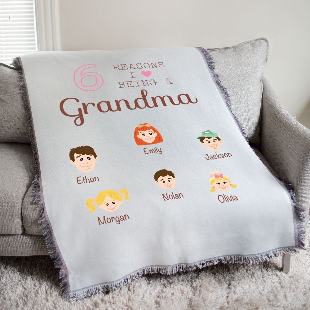 Personalized Reasons I Love Afghan | Personalized Gifts For Grandma