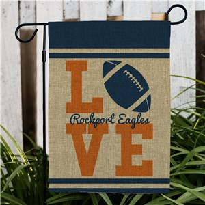 Personalized Love Sports Burlap Garden Flag 830106192BX