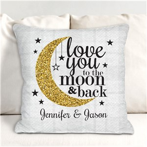 Personalized To The Moon and Back Throw Pillow | Romantic Home