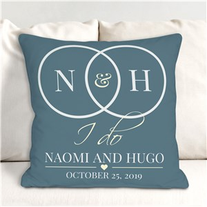 Personalized I Do Throw Pillow | Romantic Home