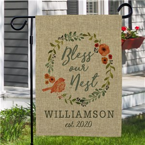 Personalized Garden Flags |Burlap Garden Flag
