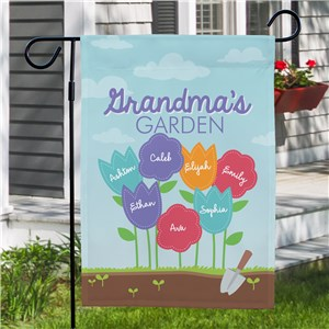 Personalized Grandma's Garden Yard Flag 830111532X