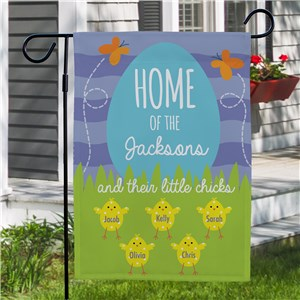 Personalized Garden Flags |Spring Chick Yard Flag for Family