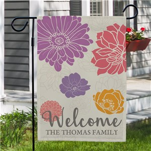 Personalized Spring Flags |Spring Family Yard Flag