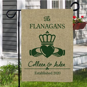 St. Patrick's Day Yard Flag | Personalizd Irish Garden Flags