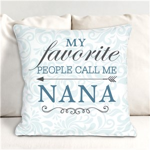 Personalized My Favorite People Throw Pillow for Her | Mother's Day Gifts For Grandma