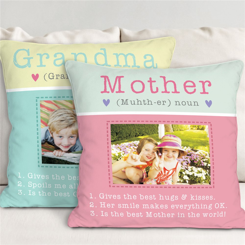 Personalized Grandma Throw Pillow | Personalized Gifts For Mom