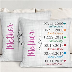 Personalized Mother Established Throw Pillow | Mom Pillow