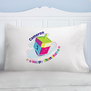 Chanukah Dreidel Pillowcase