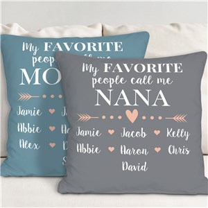 Personalized My Favorite People Call Me Throw Pillow | Personalized Gifts for Grandma