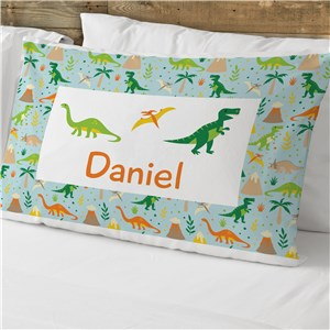Personalized Dinosaur Pillowcase | Personalized Pillowcase For Kids