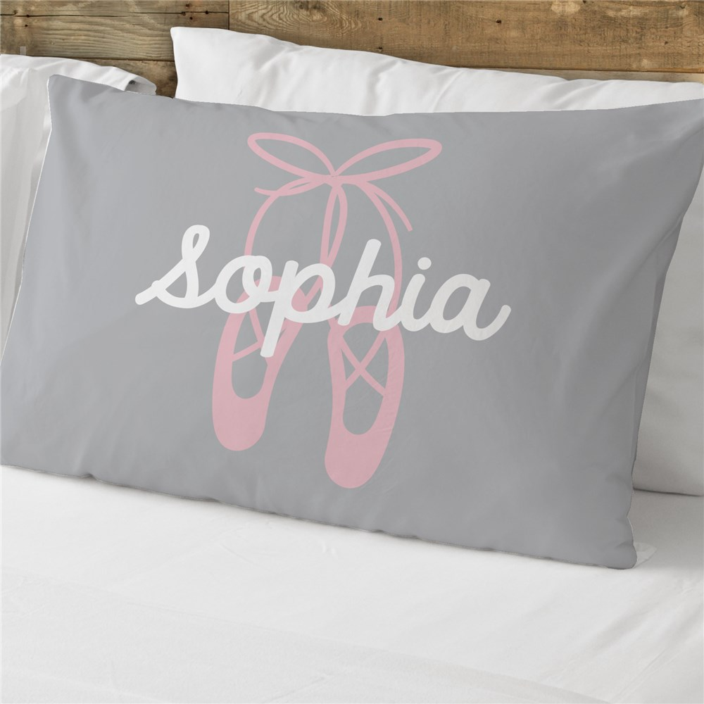 Personalized Ballet Slippers Pillowcase | Personalized Kids Pillowcase