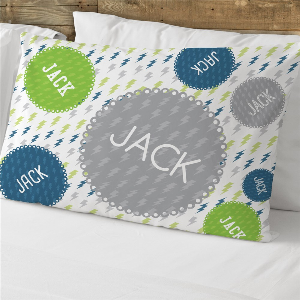 Personalized Lighting Bolt Pillowcase | Personalized Pillowcase For Kids