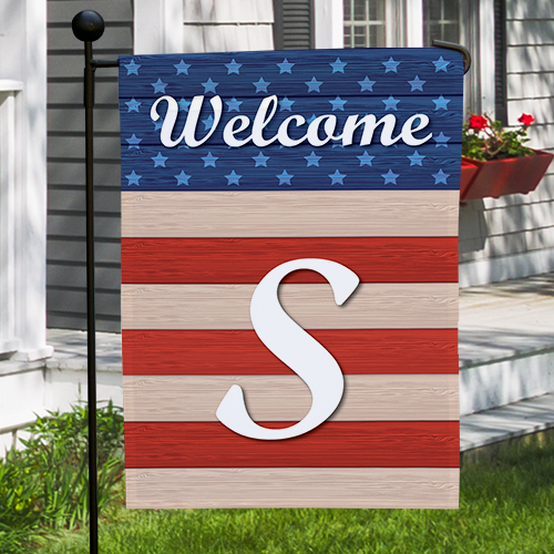 Personalized 4th of July Garden Flag | Personalized Garden Flag