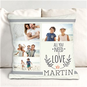 Personalized All You Need Is Love Throw Pillow | Photo Pillows