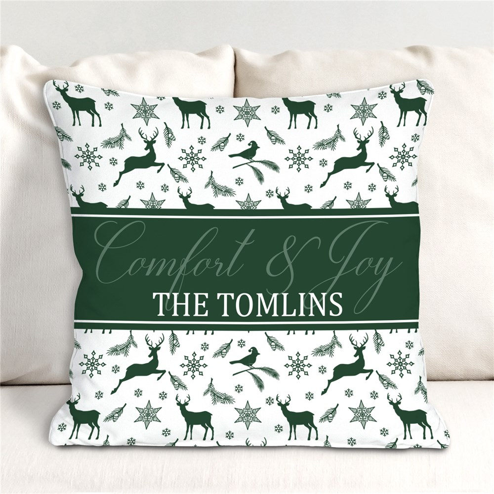 Personalized Comfort and Joy Throw Pillow | Personalized Throw Pillows