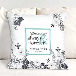 Personalized You Are My Always and Forever Throw Pillow | Personalized Valentine Gifts