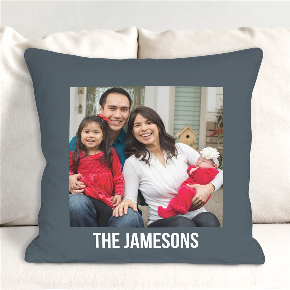 Personalized Vacation Photo Throw Pillow | Romantic Home