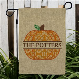 Personalized Pumpkin Burlap Flag 830124832BX