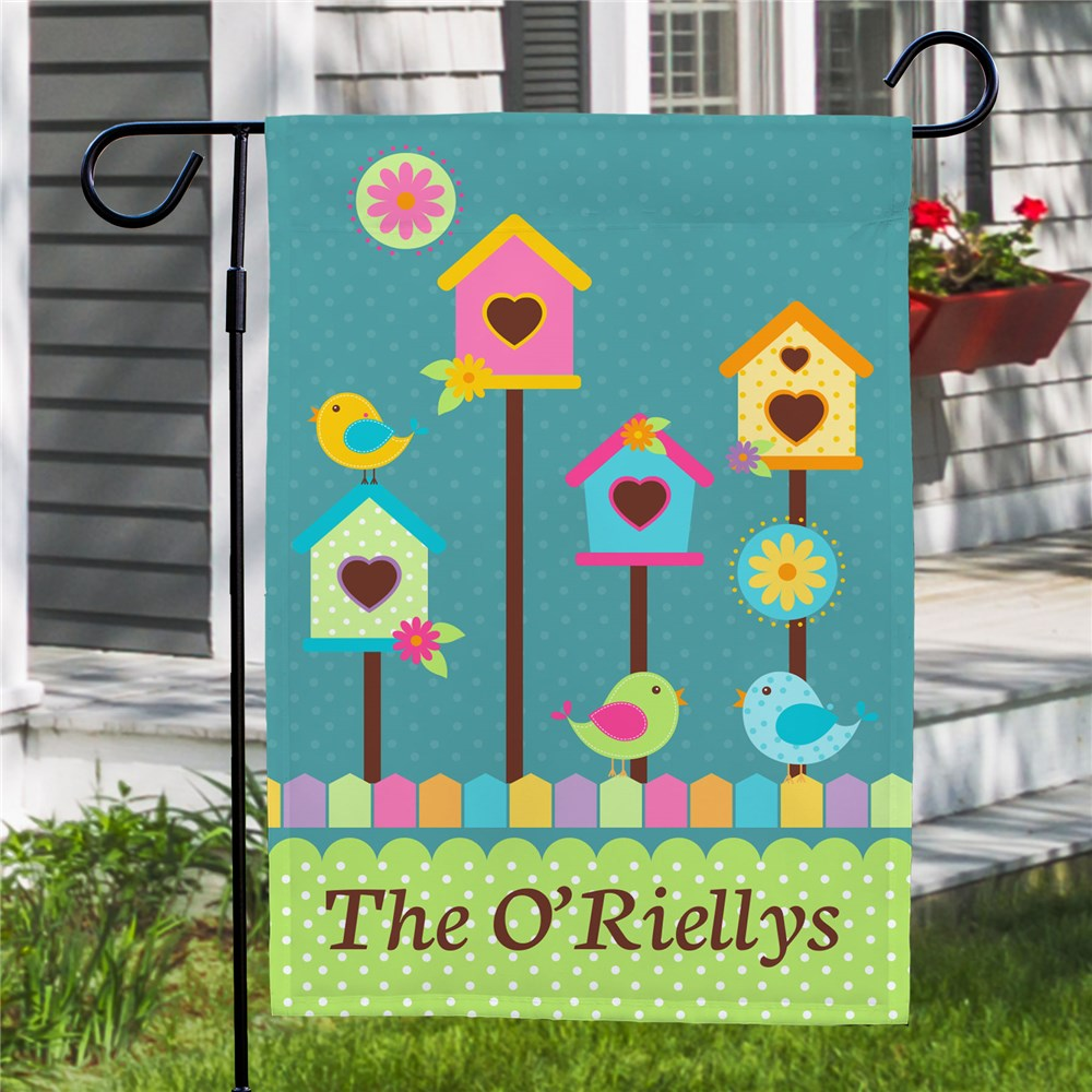 Personalized Bird House Garden Flag | Personalized Garden Flags