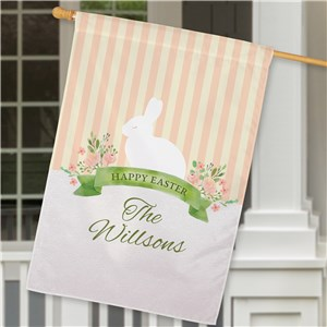 Personalized Happy Easter House Flag | Personalized Spring Flags